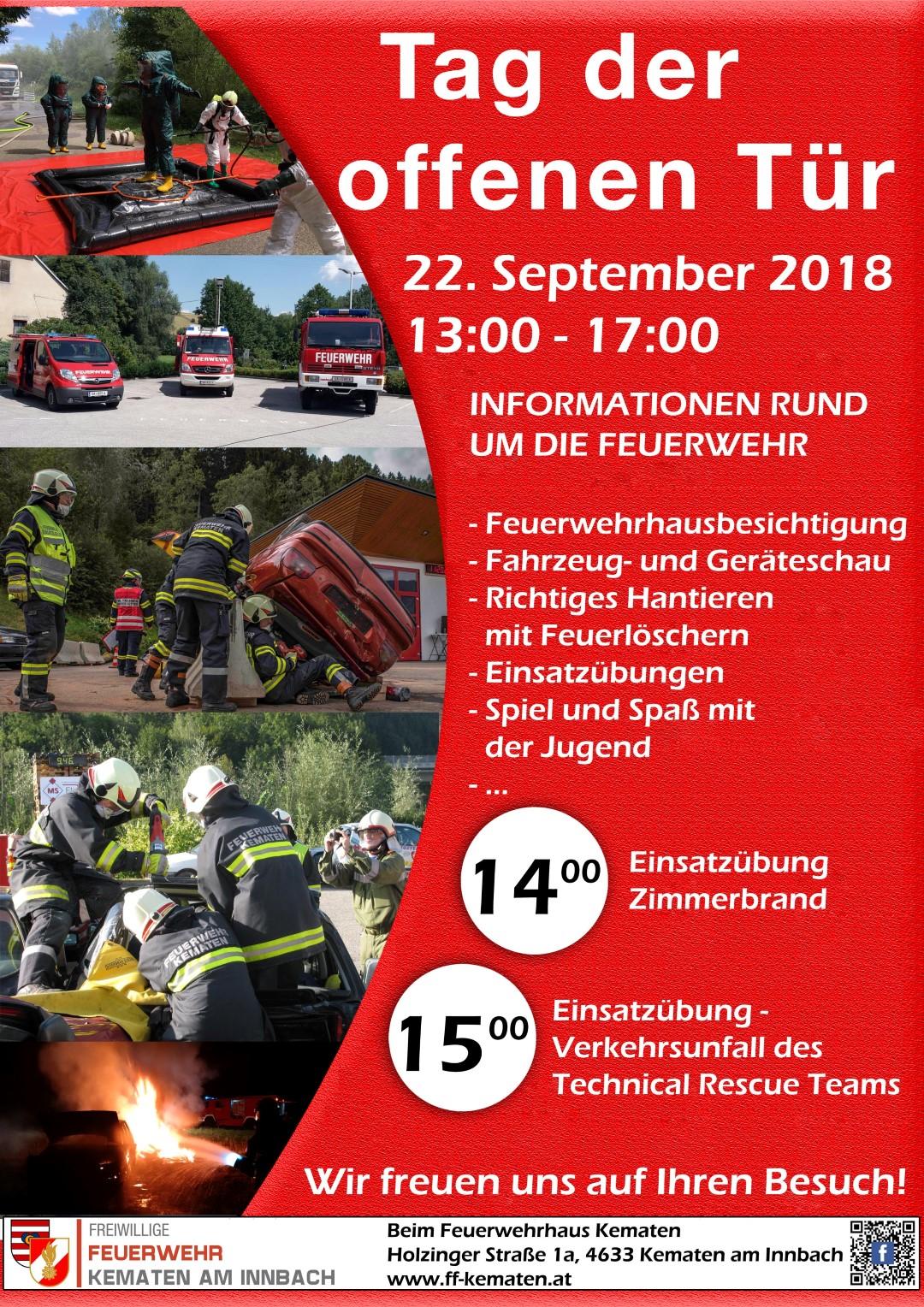 Tag der offenen Tür – FF Kematen am Innbach